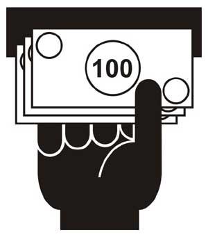 Jau naudojamas tarptautinis bankomatų simbolis