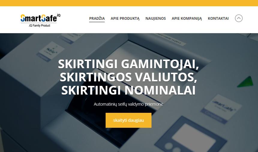 Atnaujinta SmartSafe.iQ interneto svetainė