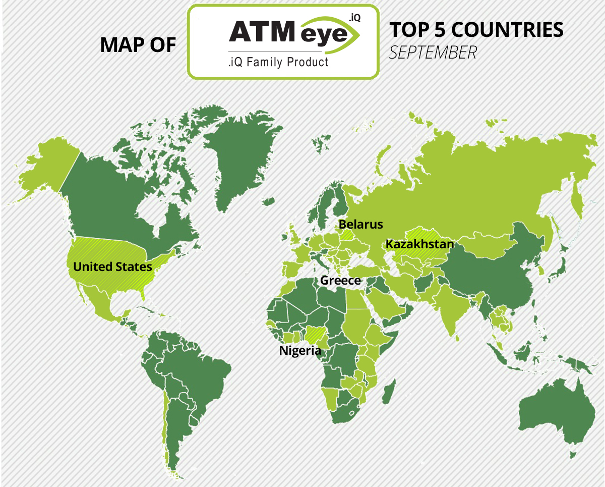 Monthly report: Top-5 countries of ATMeye.iQ customers in ...