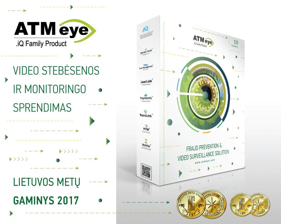 """Kompleksiniam savitarnos įrenginių apsaugos sprendimui """"ATMeye.iQ"""" – aukso medalis"""