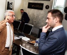 The Penki Kontinentai group of companies Board Chairman and CEO Idrakas Dadašovas and the strategic projects manager of Liber bank Levan Ugrekhelidze