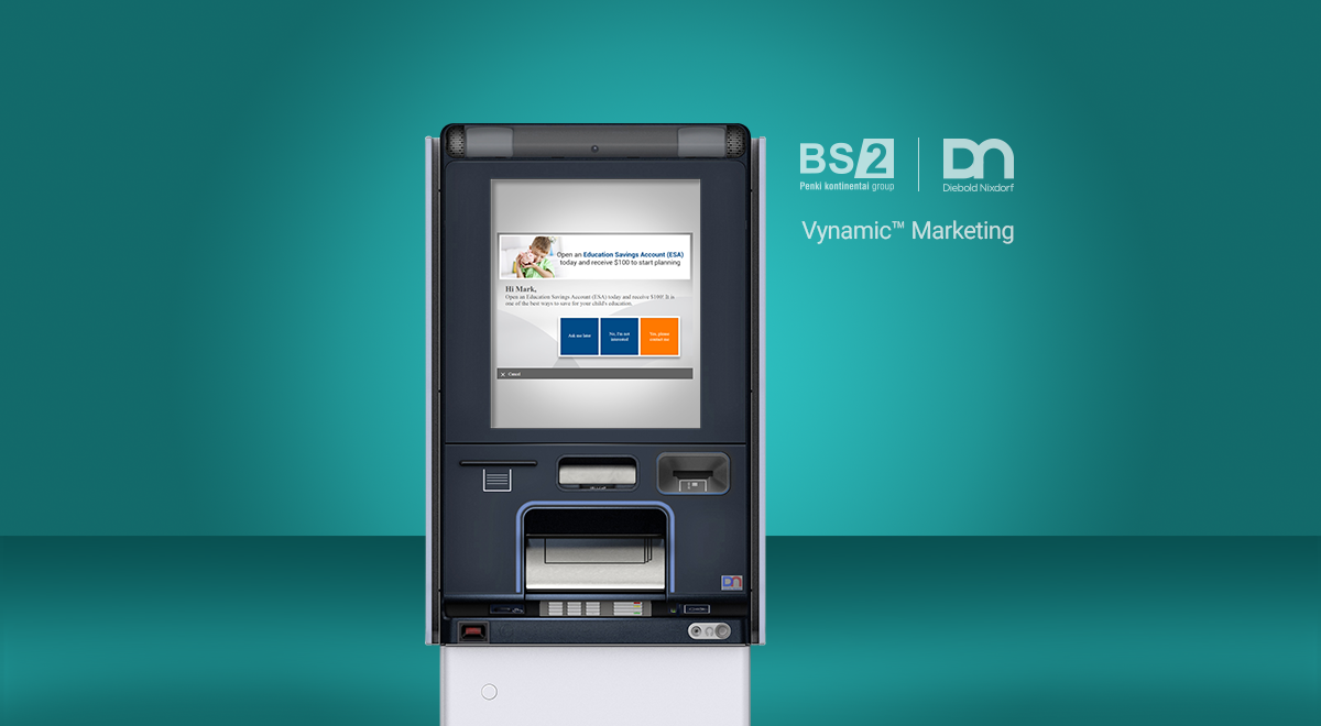 Vynamic Marketing. How to attract new customers and personalize ads using ATMs